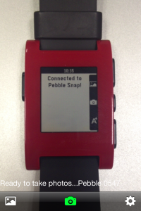Pebble Snap connected