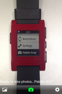 Pebble Snap installed on watch
